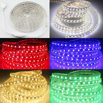 Tira Cinta De Led Flexible 220V Smd5050 Luz Impermeable Waterproof Strip