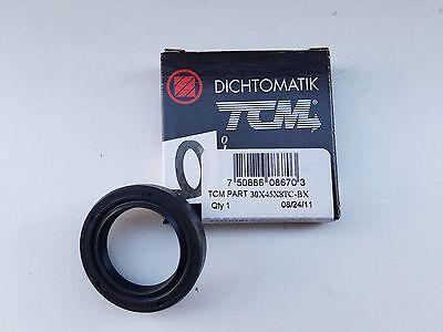 TCM 30x45x8 Twin Lip Oil Seal, Rubber Covered