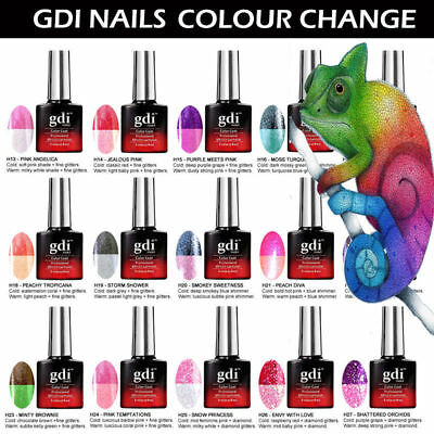 UK ALL New GDi Nails Thermal Color Change UV LED Soak Off Gel Nail Polish