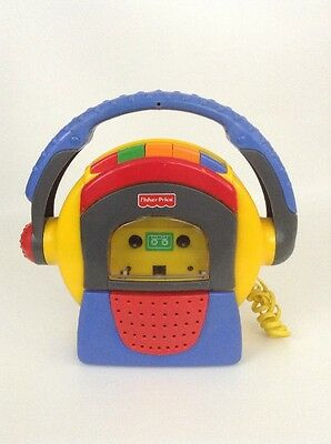 Fisher Price 1999 Tuff Stuff Tape Recorder Microphone Cassette Player 90'S Toy