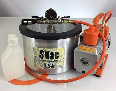 2 Gallon Vacuum Chamber and 5CFM Single Stage Pump Degassing Silicone Kit