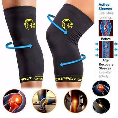 Copper CFR Knee Brace Muscle Support Sleeve Arthritis Sport Pain Relief Gym SFC