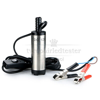 DC 12V 38mm Diameter Submersible Pump for Water Oil Diesel Fuel Transfer