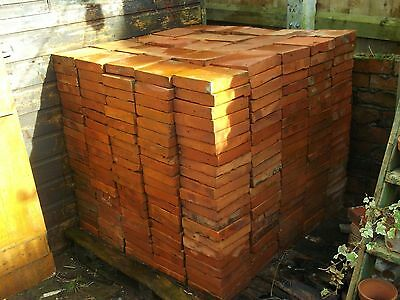 """Reclaimed quarry tiles 7""""x7""""  Victorian floor tiles 526 +spares delivery avail."""