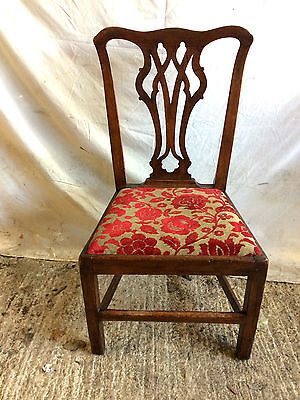Georgian Elm Country Chippendale Dining Chair