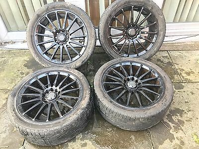 17 inch Alloy wheels with tyres pcd 5x110 multifitment