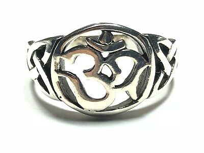 Beautiful Ladies Solid Sterling Silver Allah Kabah Ring - Size 7.25 - FREE S&H