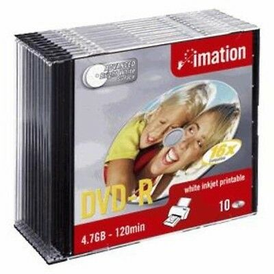 B0056463 Confezione Dvd-R Imation 4.7 Gb 16X Print Slim 10Pcs [I22372]