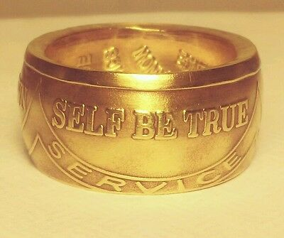 sobriety coin ring, made from AA token,  recovery jewelry ,*Be true to yourself*
