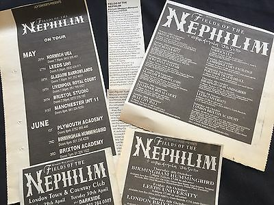 Fields Of The Nephilim # Original Clippings / Cuttings / Article Pack #