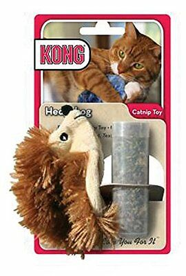 Kong Catnip animal toy refillable cat kitten play Brown Hedgehog