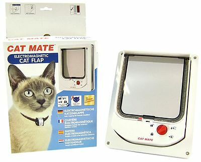 Cat Mate Electromagnetic Cat Flap Door White
