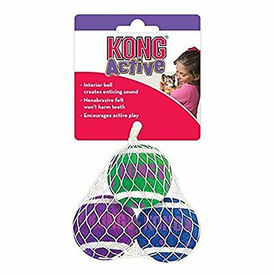 KONG Tennis Balls with Bells Cat Toy (3-pack)