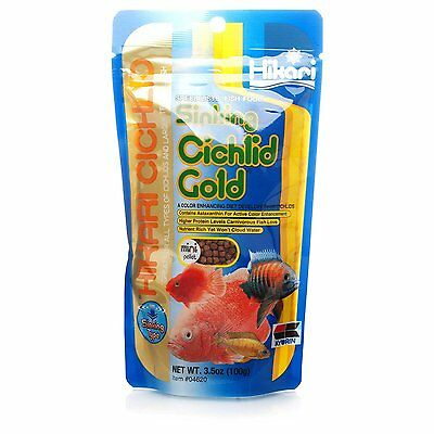 Hikari Cichlid Gold Sinking Mini Pellets, Diet for Cichlids & Tropical Fish 342g