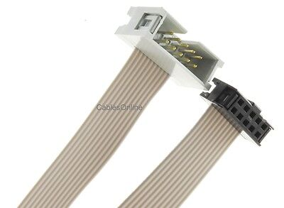 10-Pin (2x5) 2.54mm-Pitch Male/Female 10-wire IDC Flat Ribbon Extension