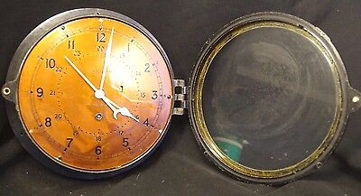 WW2 USS Yellowstone AD - 41 Chelsea Clock US NAVY Ships 8 Day Brass Face Clock