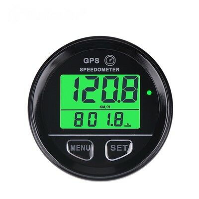 GPS Speedometer gauge, 60mm, odometer,  12V/24V, green backlit, w/wire harness