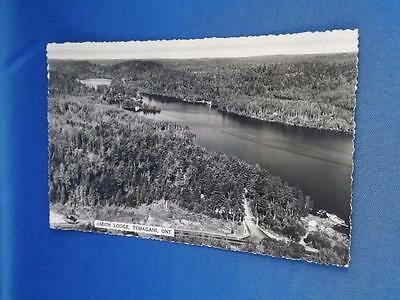 Real Photo Postcard Amich Lodge Temagami Ontario Aerial View