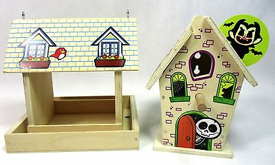 Lowe's Build and Grow Haunted Bird House & Feeder Wood Kit Model Patch Halloween