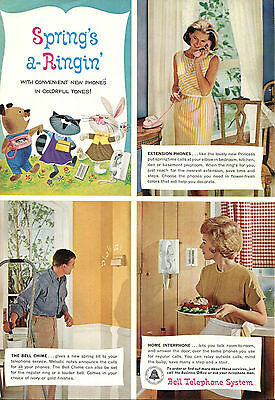 Bell Telephone Ad Spring's a Ringin' 1960s Vintage Phone Electronics Extension