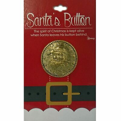 Santas Gold Coat Button Holiday Traditions Roman 31916