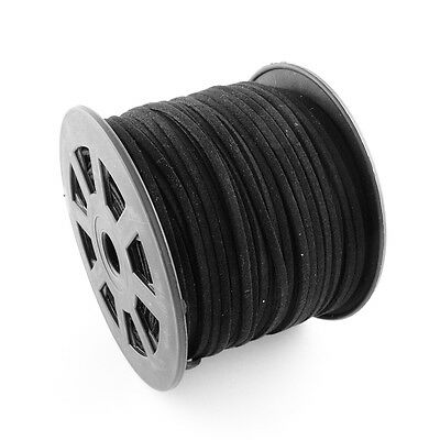 3 M Black Premium Faux Suede Cord Lace thread 2.5mm wide 1mm thick(LW-G001-1)
