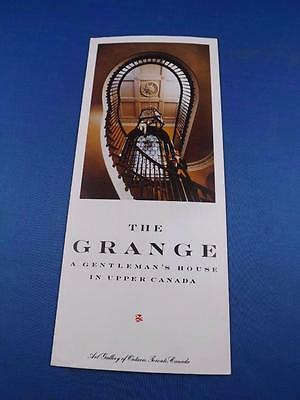 Travel Brochure The Grange Gentlemans House In Upper Canada Art Gallery Ontario