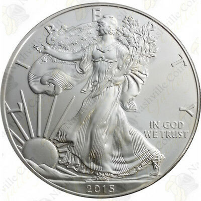 2015 1 oz American Silver Eagle – Brilliant Uncirculated – SKU #1409