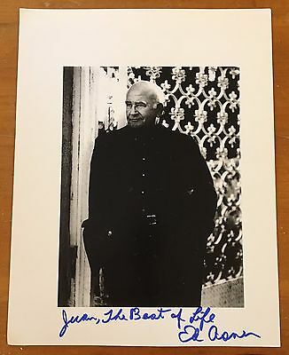 """Ed Asner,100% Authentic Autographed 8 1/2"""" X 11"""" Photo,movie Legend,87 Yrs Old"""
