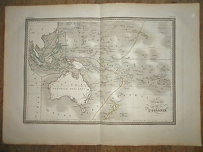 South Sea Islands Oceania 1837 Malte-Brun Antique Original Copper Engraved Map