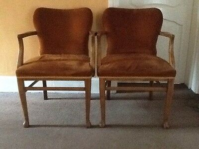 Pair Of Antique Carved Palour / Dining /Bedroom Chairs
