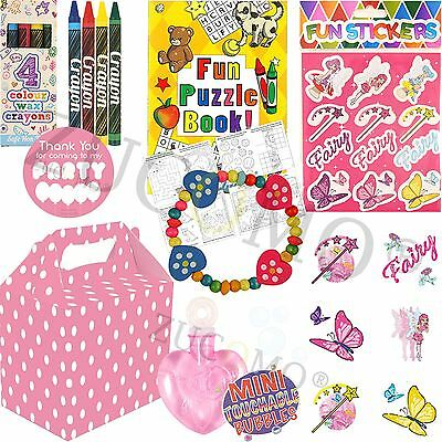 Pre Filled Girls Party Bags Boxes Birthday Parties Goodies Fillers Toys Favours