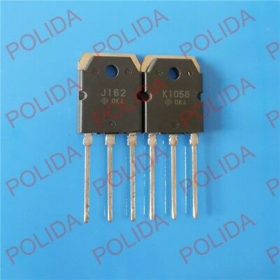 10pairs  Transistor HITACHI TO-3P 2SJ162/2SK1058 J162/K1058 100% Genuine and New