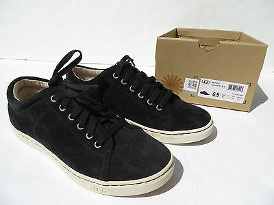 6bfa363a67d UGG TOMI WATER Resistant Suede Sneaker Shoes Womens 6.5 Leather Black NEW  37.5