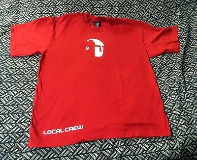 Rare vintage PEARL JAM RED OFFICIAL BINAURAL TOUR CREW SHIRT SIZE MEDIUM KANGOL