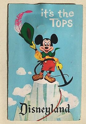 Vintage rare Disneyland Matterhorn Mickey Hat Postcard original Disney Sign Prop