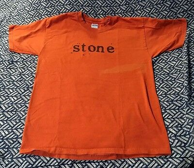 PEARL JAM STONE GOSSARD BURNT ORANGE NAME SHIRT SIZE LARGE Slight discoloration