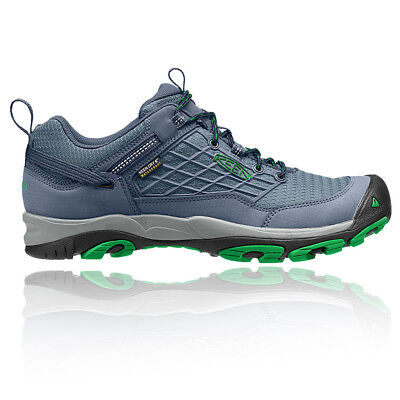 Keen Saltzman Mens Blue Waterproof Outdoors Walking Camping Shoes