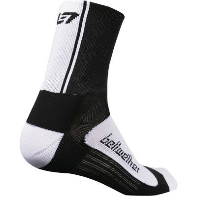 Bellwether Circuit Cycling Socks Black/White S/M