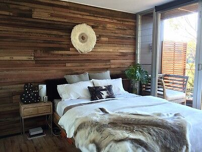 Recycled Hardwood Artisan 3 Board Panel - Feature Wall