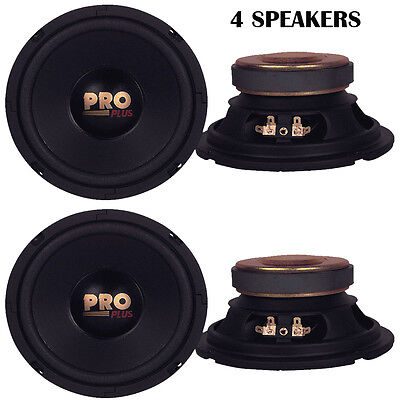 """Lot of 4 NEW Pyramid W64 Woofers 6.5"""" 200W MidBass Poly Woofer Midrange Speakers"""