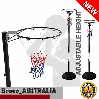 NEW Portable Netball Ring with Stand Portable Pole Height Adjustable 2.4m - 3m