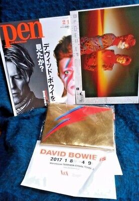 David Bowie is Japan Exhibition  Aladdin Sane Lightning Pouch Exclusive w/flyer