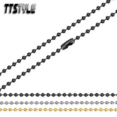 TTstyle S.steel ball chain 3 colours available 50-70cm length Suit for Pendant