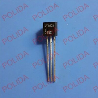 10PCS RF/VHF/UHF Transistor FAIRCHILD TO-92 BF245C BF245