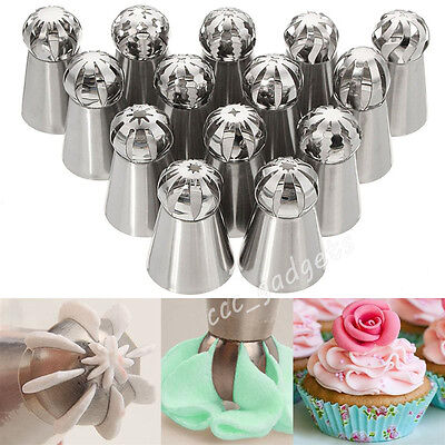 14x Sphere Ball Russian Icing Piping Nozzles Tip Cake Decorating Pastry Tool Set