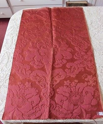 "French Antique c1860-1870 Silk Brocatelle Fabric~Frame~Home Dec~L-38"" X W-23"""