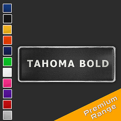 Custom Text Logo Chrome Badge CHOOSE YOUR FONT STYLE + COLOUR [add on only] TB