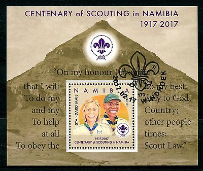 Namibia 2017 CTO Centenary of Scouting 1v M/S Girl Boy Scouts Stamps