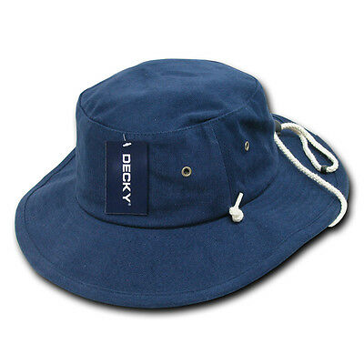 daf334e4c65 Navy Blue Aussie Boonie Safari Bucket Fishing Outback Drawstring Hat Hats  S M